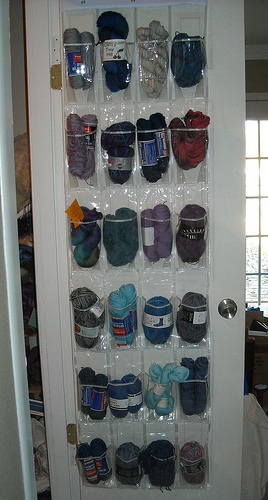 Sock yarn storage